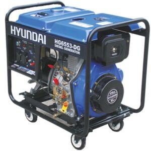 موتور برق هیوندای 5300 وات گازوئیلی HYUNDAI HG6553-DG - یک توبره